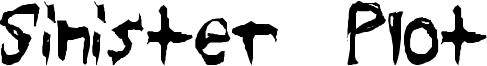 Sinister Plot Font