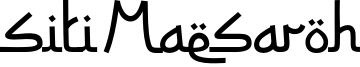 Siti Maesaroh Font
