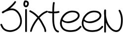Sixteen Font