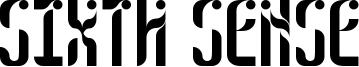 Sixth Sense Font