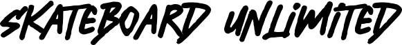 Skateboard Unlimited Font