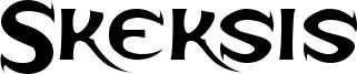 Skeksis Font