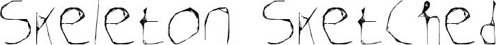 Skeleton Sketched Font