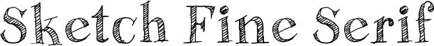Sketch Fine Serif Font