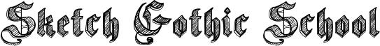 Sketch Gothic School Font