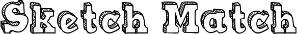 Sketch Match Font