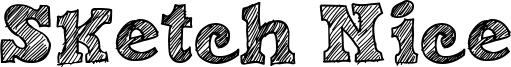 Sketch Nice Font