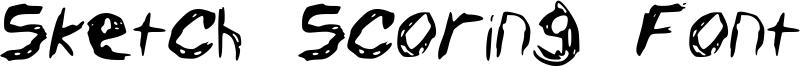 Sketch Scoring Font Font