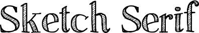 Sketch Serif Font