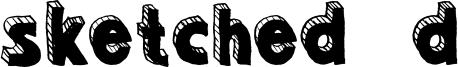 Sketched 3d Font