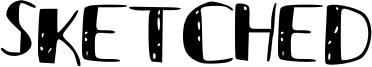 Sketched Font