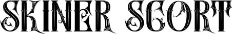 Skiner Scort Font