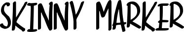 Skinny Marker Font