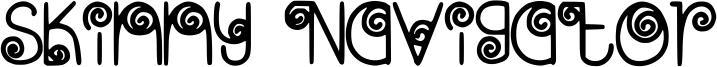 Skinny Navigator Font