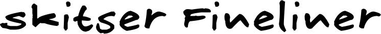 Skitser Fineliner Font