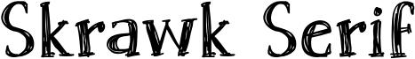 Skrawk Serif Font