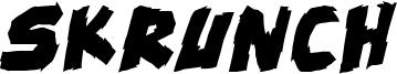 skrunch Bold Italic.ttf