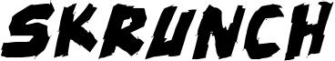 Skrunch Font