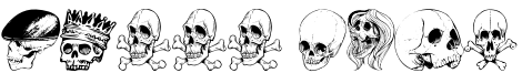 Skull Font Font