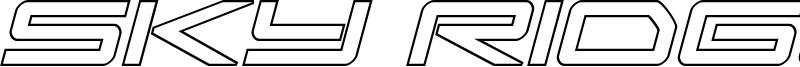 Sky Ridge Font