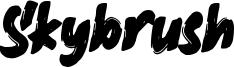Skybrush Font