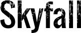 Skyfall Font