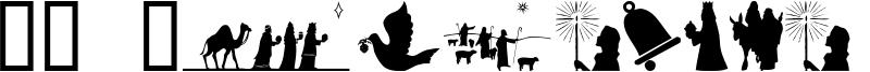 SL Christmas Silhouettes Font