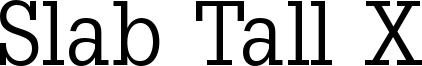 Slab Tall X Font