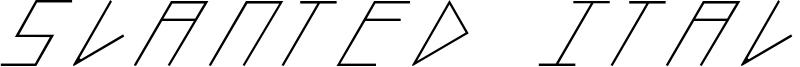 Slanted Italic Shift Font