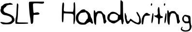 SLF Handwriting Font