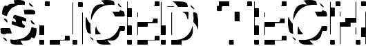 Sliced Tech Font