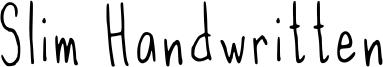 Slim Handwritten Font