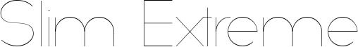 Slim Extreme Font