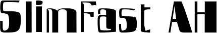 SlimFast AH Font