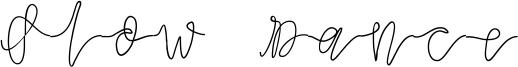 Slow Dance Font