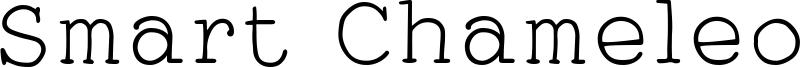 Smart Chameleon Font