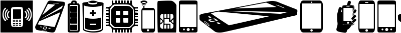Smartphone Icons Font