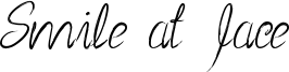 Smile at face Font