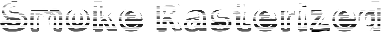 Smoke Rasterized Font