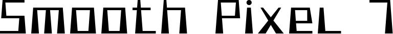 Smooth Pixel 7 Font