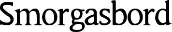 Smorgasbord Font