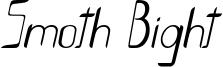 Smoth-Bight Italic - Por Kustren.otf