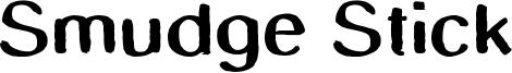 Smudge Stick Font