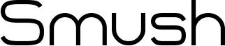 Smush Font