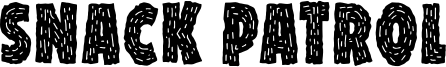 Snack Patrol Font