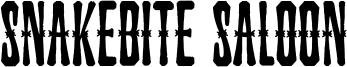 Snakebite Saloon Font