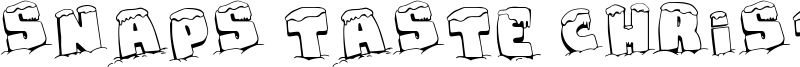 Snaps Taste Christmas Font