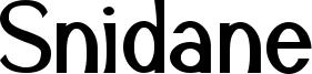 Snidane Font