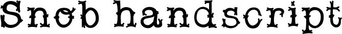 Snob handscript Font