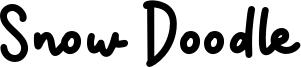 Snow Doodle Font